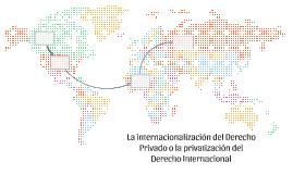 La internazionalización del Derecho Privado o la privatizaci