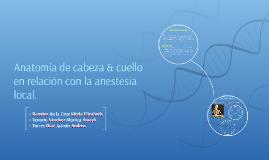 Anatomía de Cabeza & Cuello con relación a la Anestesia.