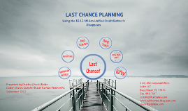 Last Chance Planning in 2012
