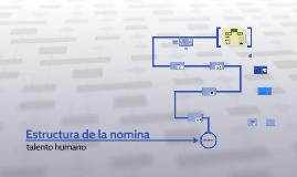 Estructura de la nomina