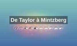 De Taylor à Mintzberg