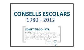 Consells Escolars: 1980-2012