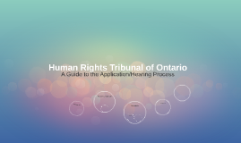 Human Rights Tribunal of Ontario