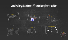 Vocabulary/Academic Vocabulary Instruction