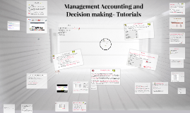 Management Accounting and Decision making