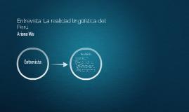 Entrevista: La realidad lingüística del Perú