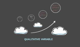 QUALITATIVE VARIABLE