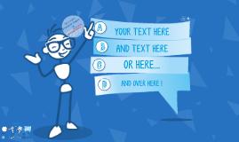 TEMPLATE - Cartoon Text Balloon 3D Blue