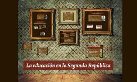 La educación en la segunda República