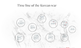 Time line of the Korean war