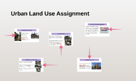 Urban Land Use Assignment
