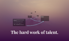 The hard work of talent.