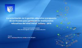 Valdiviezo, S. (2016) Caracterizacíón
