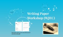 GCSE Writing Paper Workshop (WJEC)