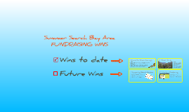 Summer Search Bay Area: Fundraising Wins!
