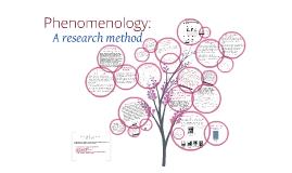 Copy of Phenomenology