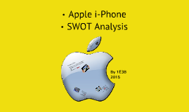 iphone 5 swot analysis Conducting a swot analysis is a great way to develop a picture for where you are and where you need to go read more for a step-by-step process for efficiently getting results in a way that involves and energizes a team.