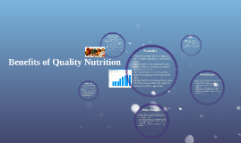 Benefits of Quality Nutrition