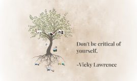 Don't be critical of yourself.