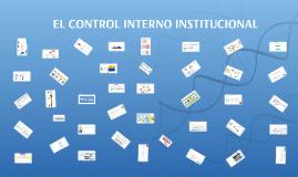 EL CONTROL INTERNO INSTITUCIONAL