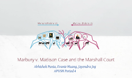 Marbury v. Madison Case and the Marshall Court