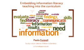 Embedding information literacy teaching into the curriculum
