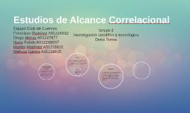 Estudios de alcance correlacional