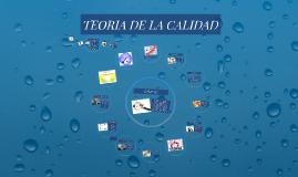 TEORIA DE LA CALIDAD