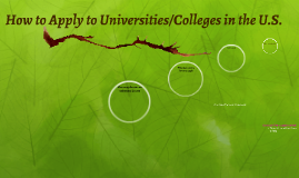 How to Apply to Universities/Colleges