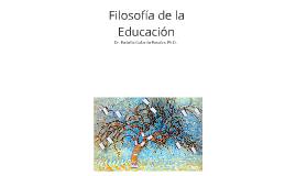 Concepto de Filosofía de la Educación
