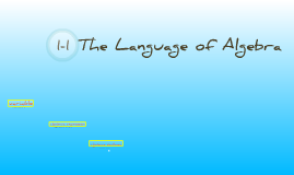 Copy of 1-1 The Language of Algebra