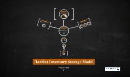 HazMat Inventory Storage Model