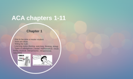 ACA chapters 1-11