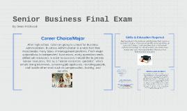 Senior Business Final Exam