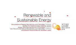 Copy of Renewable and Sustainable Energy