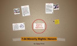 7.04 Minority Rights: Honors