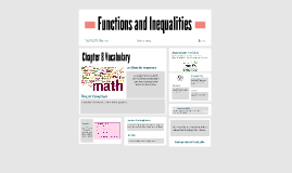 Chapter 8 - Functions and Inequalities
