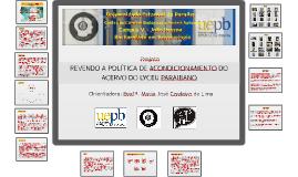 PROJETO DE ARQUIVO - LYCEU PARAIBANO - UEPB - 2015.1