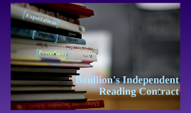Boullion's Independent Reading Contract