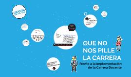 QUE NO NOS PILLE LA CARRERA