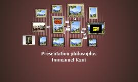 Présentation philosophe: Immanuel Kant