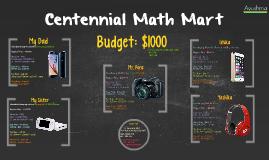 Centennial Math Mart