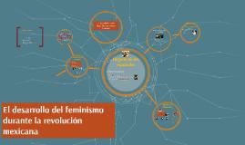 El desarrollo del feminismo durante la revolucion mexicanan