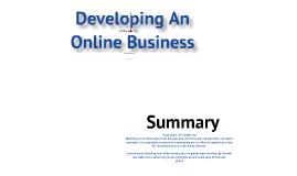 Developing An Online Business