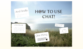 How to use chat! (Trial Version)