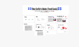 Ethnic Conflict in Quebec (French Canada)