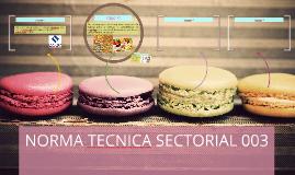 NORMA TECNICA SECTORIAL 003