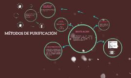 MÉTODOS DE PURIFICACIÓN