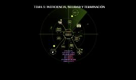 TEMA 5: INEFICIENCIA, NULIDAD Y TERMINACIÓN