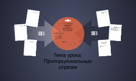 Тема урока:  Пропорциональные отрезки